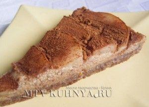 Raw pear cake/Сыроедческий грушевый торт