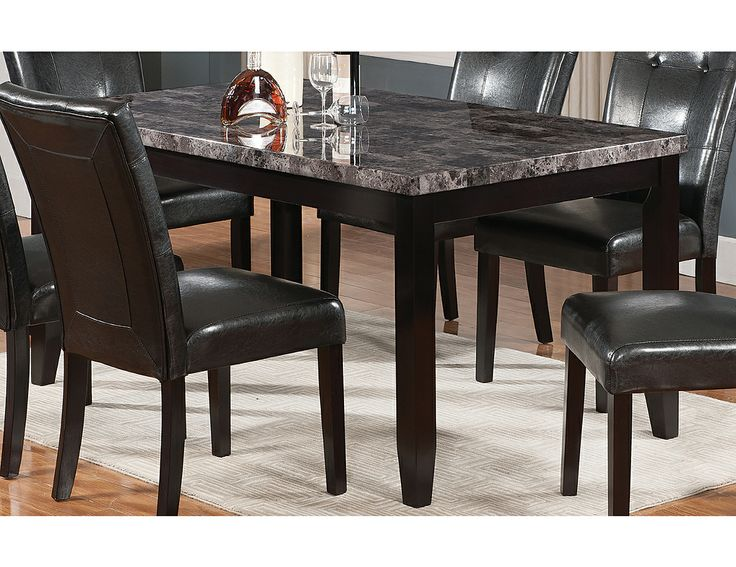 Lake Tahoe Dining Room Set Extraordinary Tahoe Faux Marble Dining Table Tahoegtb  The Brick  Dining Decorating Inspiration