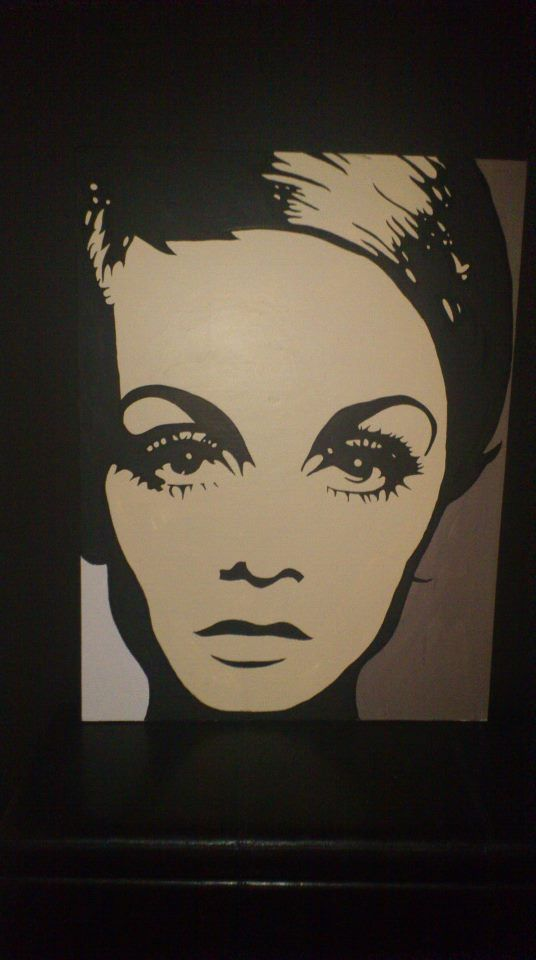 one of Moo's paintings - Miss Twiggy