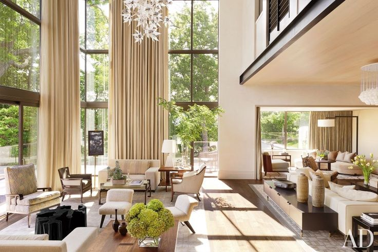 Contemporary Living Room by McAlpine Booth & Ferrier Interiors and DA|AD in Nashville, Tennessee