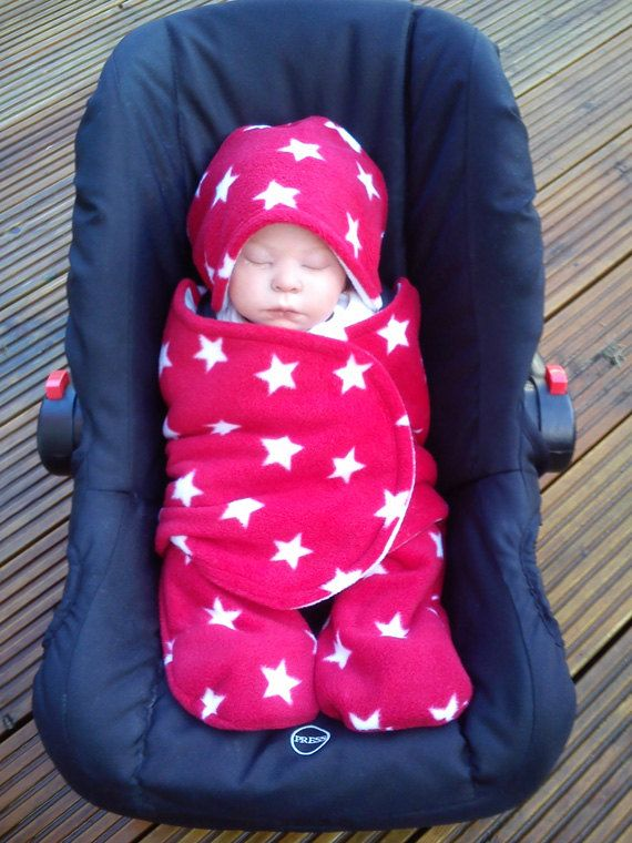 car seat cosy wrap swaddle blanket baby red and by siennachic siennachic etsy treasury. Black Bedroom Furniture Sets. Home Design Ideas