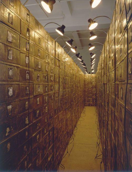 / filing cabinets, old metal lockers