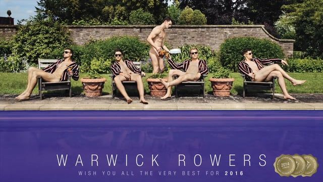 The world's most famous naked athletes, the Warwick Rowers, are back with their seventh calendar for 2016.  Take a peek behind the scenes at our naked photo shoots on glamorous locations in England and Spain, while we explain why the calendar means so much to us and why we are working to challenge homophobia in sport.  And visit us at warwickrowers.org, where you will be able to find our calendar, bonus downloads, films, book, posters, prints and a whole lot more!  It's for everyone.