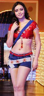 South Indian , Bollywood Actress and Models: Rekha Akshara Navel exposure in Half Saree