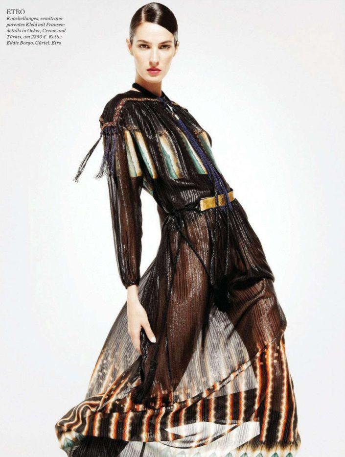 Ethno De Luxe   Elle Germany August 2014   Emina by Katerina Tsatsani  [Editorial] #Etro #RobertoCavalli