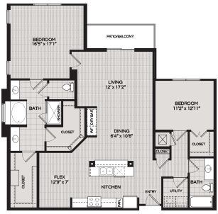Floorplans B4 2 BEDROOM 2 BATH