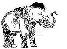 tribal elephant drawing - Google Search