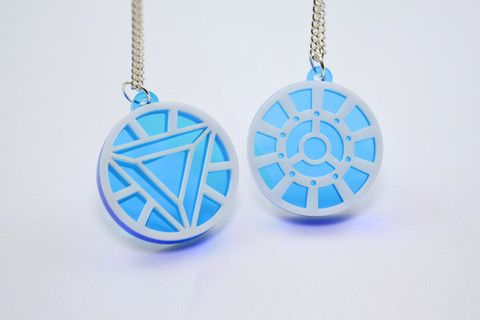 Iron Man Arc Reactor Friendship Necklaces - Laser Cut Acrylic - SALE PRICE