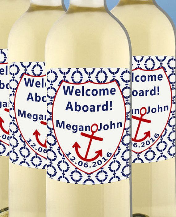 Check out this item in my Etsy shop https://www.etsy.com/listing/270444314/nautical-wine-labels-champagne-bottle