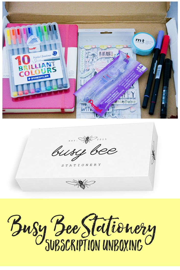 Magazine subscription: Busy Bee -- A Planner Subscription Box | stationary | bullet journal supplies