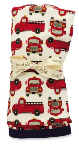 Mud Pie Firetruck Blanket