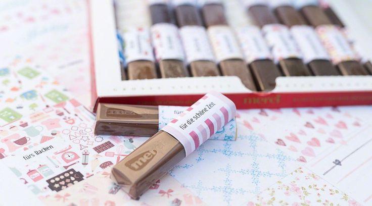 32 Geschenkideen zum Schulende oder Abschied & eine Druckvorlage für Merci-Schokolade als Geschenk für Lehrer, Erzieher und Pädagogen.