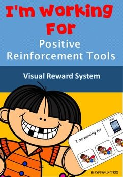 """Reward system -  for students with AutismVisual Reinforcement for students with visual and token choices, A powerful method of strengthening new skills and behaviours, The tokens are a way of paying children for completing tasks and then they can be used to trade for desired activities or items they choose.I've created 4 different levels of """"working for"""" cards in both black and white and colour."""
