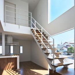 鶴田の家の部屋 大きな階段