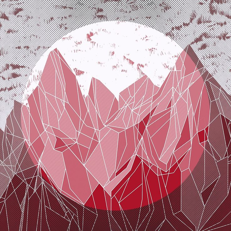 Sunset Mountain ! #red #print #mountain #nature @oozefina