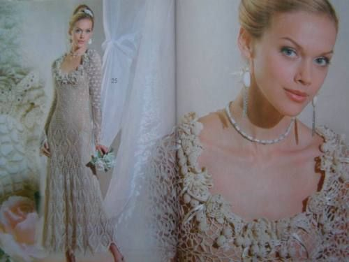 Wedding-Bridal-Prom-Irish-Lace-Dress-Crochet-Patterns-Magazine-Zhurnal-Mod-594