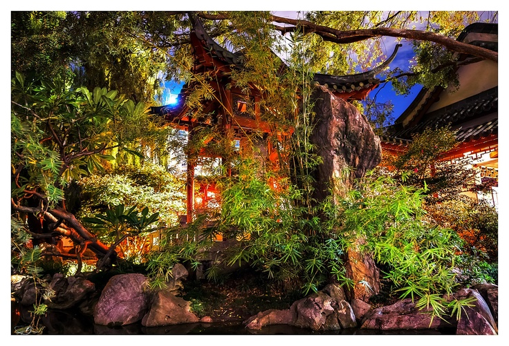 Chinese Gardens at Nite II by mdomaradzki.deviantart.com on @deviantART