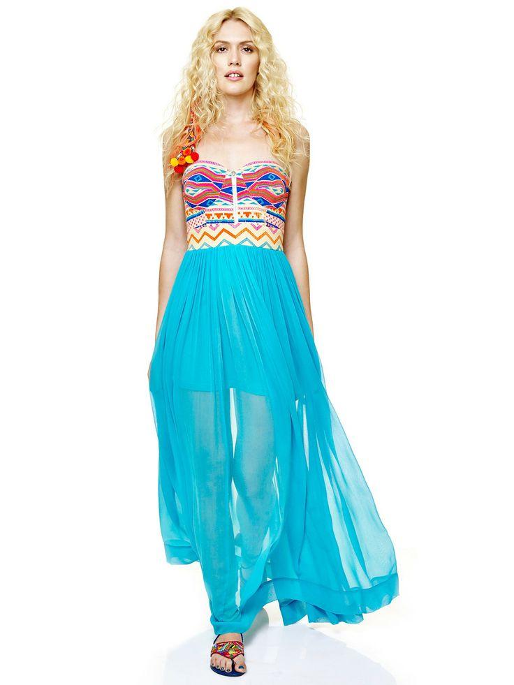 Venus Maxi Dress - Buy Blue Venus Maxi Dress - 23278-MX-862 - maxi for Women - Global Desi by Anita Dongre   Anitadongre.com