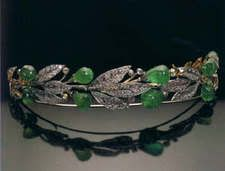 Emerald and Diamond Tiara, Russian origin and brought into the Prussian Royal House.