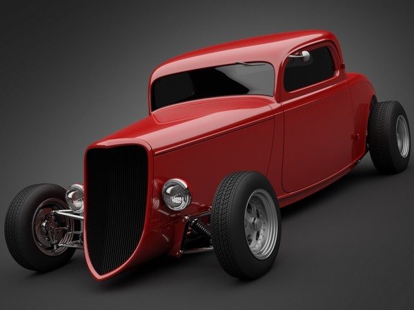 1933 Boyd Coddington Vern Luce Coupe 3D Model .3ds .lwo .max .obj | CGTrader.com