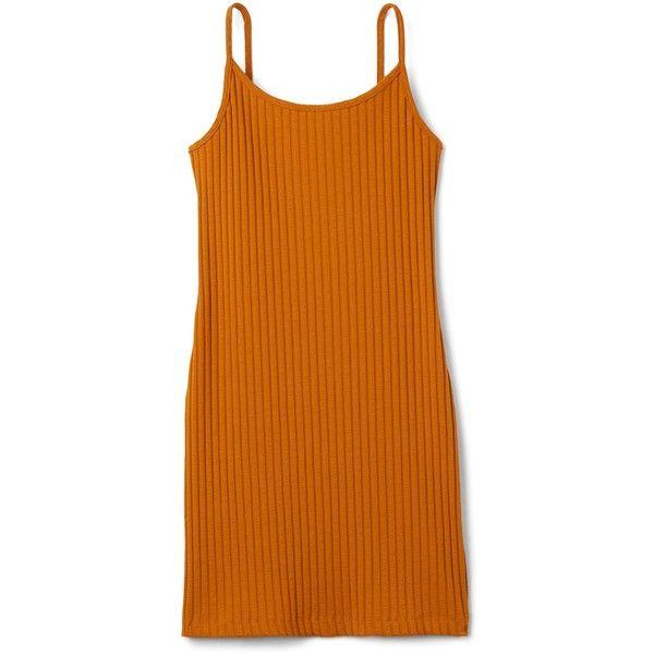Tess Dress ❤ liked on Polyvore featuring dresses, fitted mini dress, slim fit dress, short fitted dresses, orange dress and mini dress
