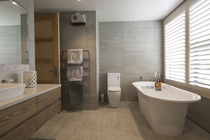 Great use of neutral tones in this bathroom designed by Bruce Banbury from Banbury Architecture #ADNZ #architecture #bathrooms