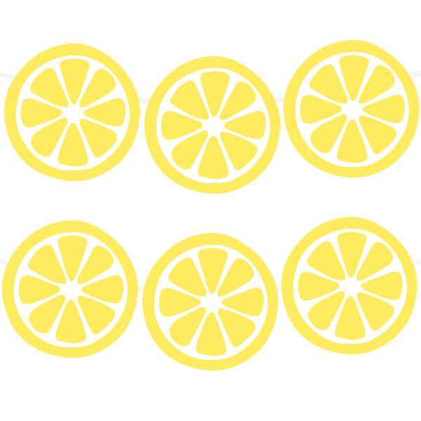 Free Printable Lemon Garland | printablepartydecor.com #freeprintable