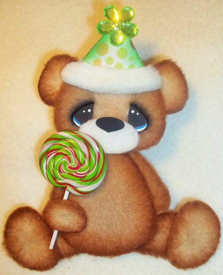 ELITE4U TEAR BEAR BOY/ GIRL Birthday Bear  PREMADE SCRAPBOOK ~ CARD ~ALBUM