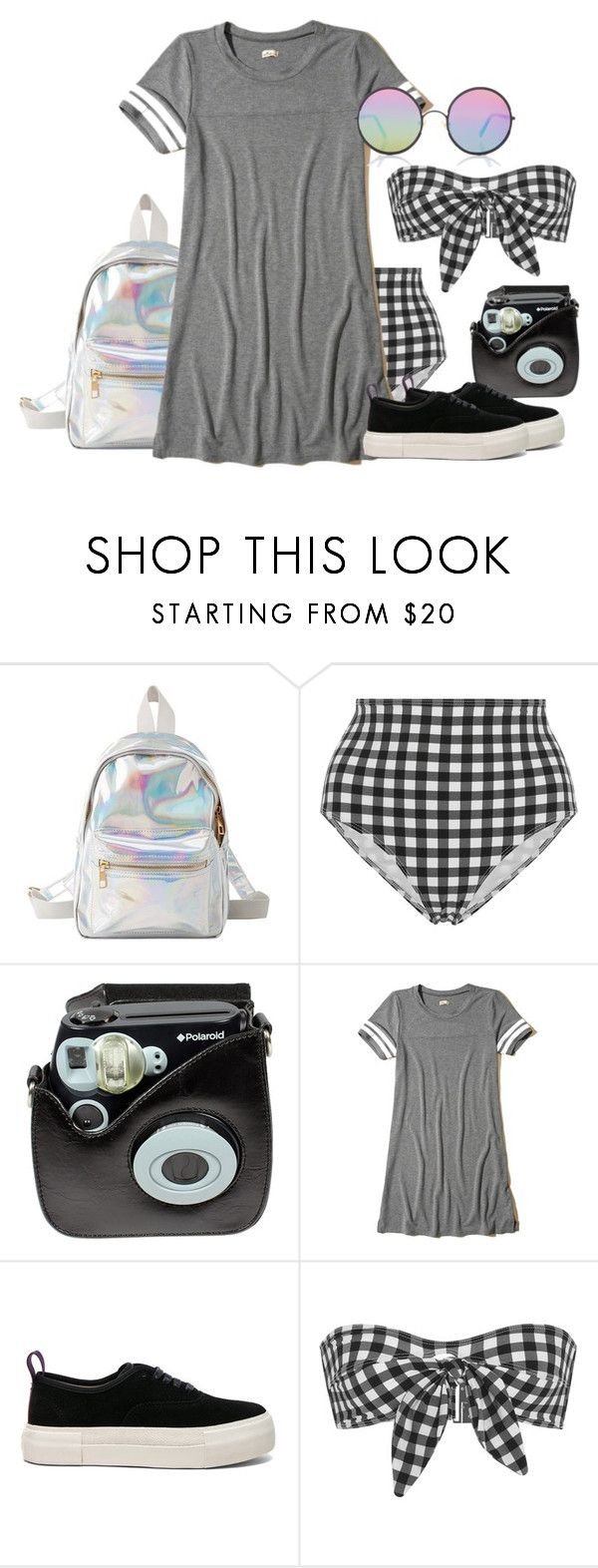 """""""BTS - V's Girlfriend"""" by cfull ❤ liked on Polyvore featuring Charlotte Russe, Ephemera, Polaroid, Hollister Co., Eytys and Sunday Somewhere"""