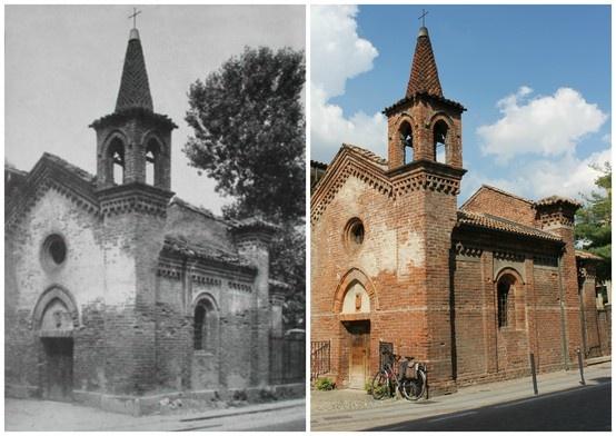 """Oratorio S.Giovanni Battista, Settimo Milanese: anni '50 - 2013  (45°29'19.32""""N 9°03'17.19""""E 45.488708,9.05473)"""