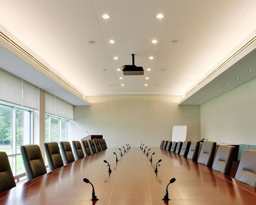 Conference Room With Cove Lighting And Wac Tesla Led 3