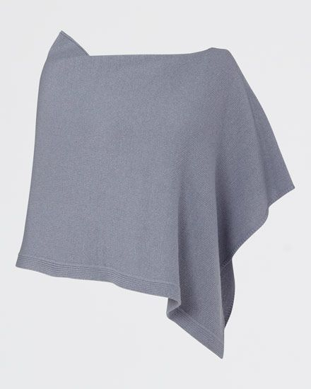 Italian-made soft-knit poncho carefully crafted in a wool blend with a touch of cashmere for a truly luxe feel. Easy relaxed fit and rib detail at the hem. We love how versatile this piece is. Use this poncho as an extra-cosy layer in the winter or a light cover up in the summer.
