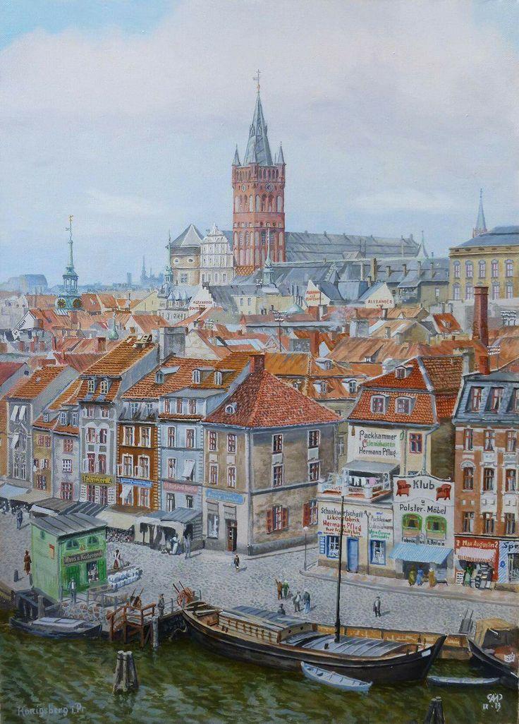 Königsberg Pr.      Blick vom Pregel auf das Schloß