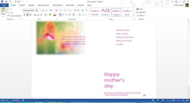 Free Printable Microsoft Office Templates For Mother S Day Free Mothers Day Cards Mothers Day Cards Pop Up Cards