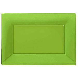Flot lime grøn fad i plast. Stort udvalg af lime grøn engangservice og tilbehør til din fest.