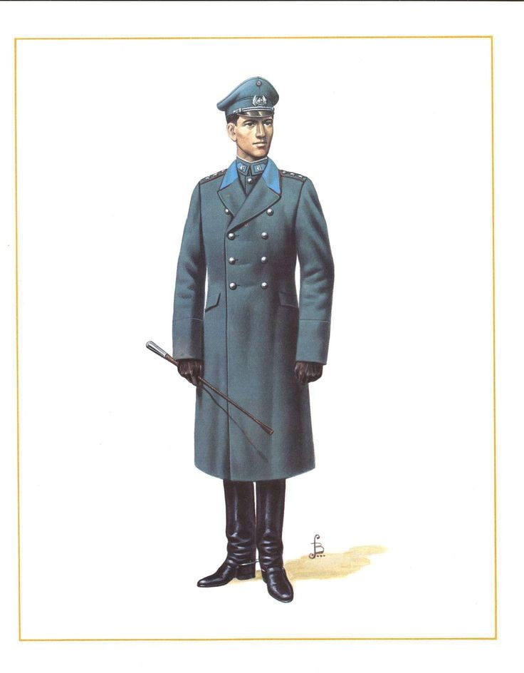 Uniforme de servicio invierno de oficiales de caballería del Ejército de Chile en 1949 / Chilean Army cavalry officers' 1949 winter service uniform