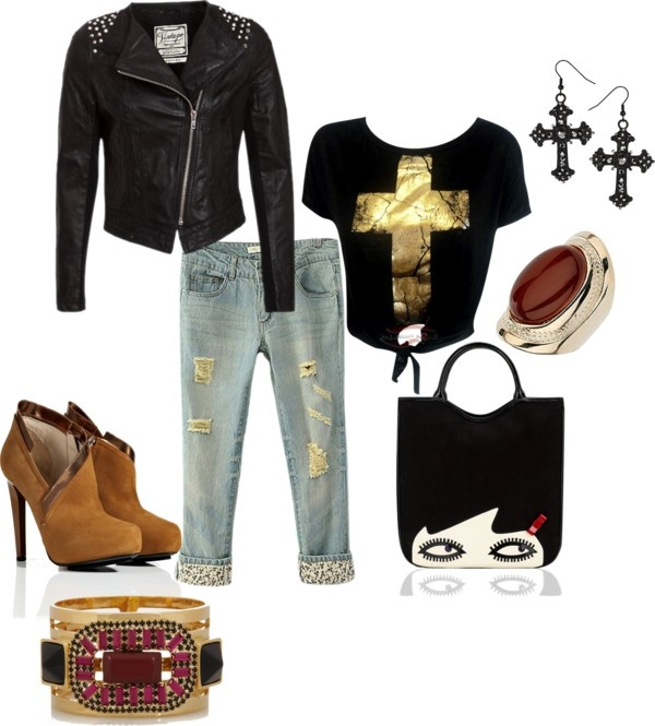 """Rocker Girl"" by jazzflower on Polyvore"