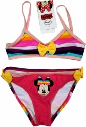Costum baie din 2 piese, de la Disney cu Minnie Mouse, 80% poliamida, 20% elastan.