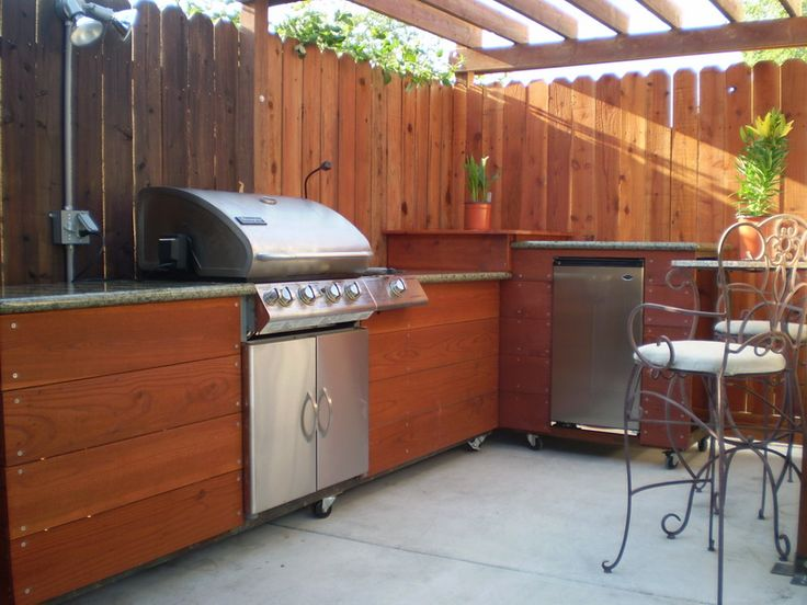 Bbq idea for deck. Just need to add a sink!