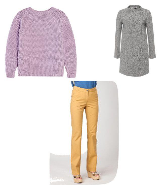 База: брюки, свитер, пальто by natalia-konda on Polyvore featuring мода