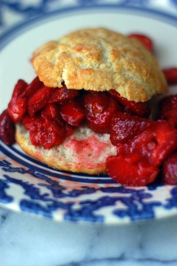 This looks divine...gf strawberry shortcake. The top crust of the biscuit is fabulous.