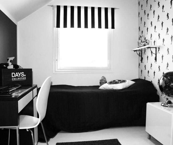 Boy's room. He is a little football player. :)