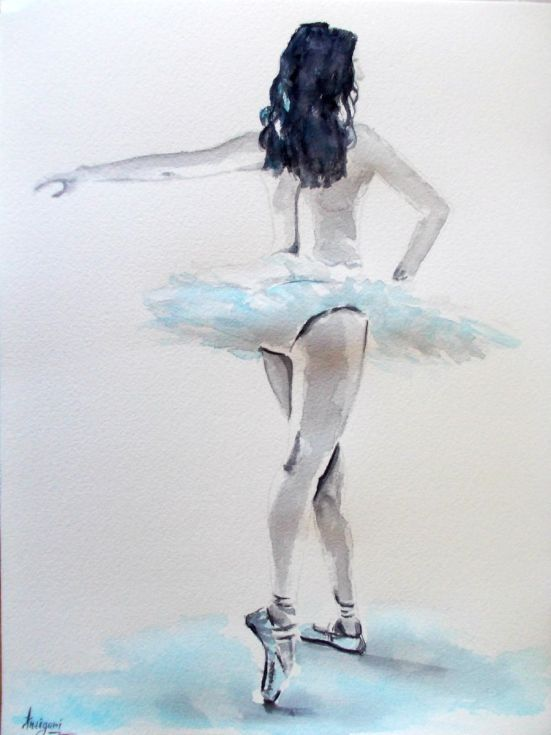 Buy Ballerina 6-Original ballet watercolor painting, Watercolor by Antigoni Tziora on Artfinder. Discover thousands of other original paintings, prints, sculptures and photography from independent artists.
