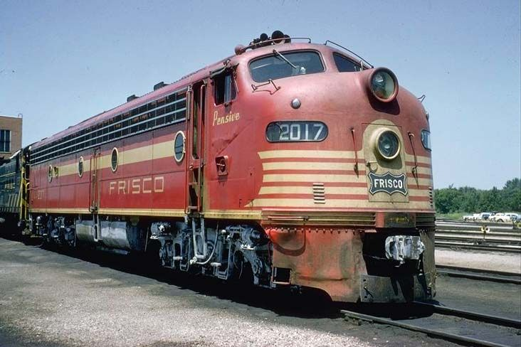 Frisco Railroad Engine #2017