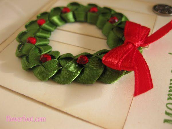 Flower Foot Designs: Christmas Ribbon Wreath (Video Tutorial)