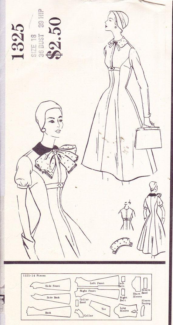 Vogue Paris Original 1325 by Jacques Heim   1956 one-piece dress
