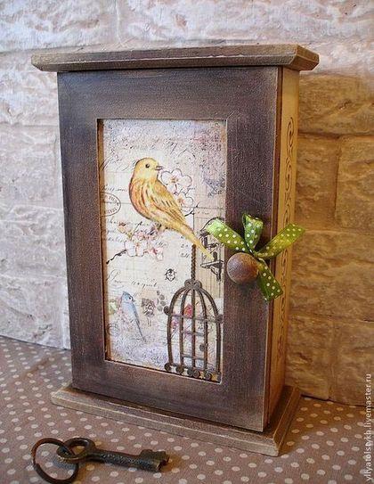 """Прихожая ручной работы. Ярмарка Мастеров - ручная работа Ключница """"Птички"""". Handmade."""