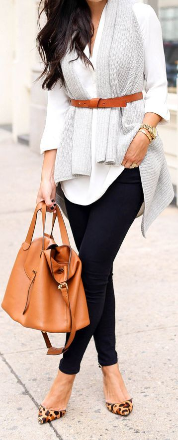 Cashmere Grey Vest Fall Inspo by With Love From Kat
