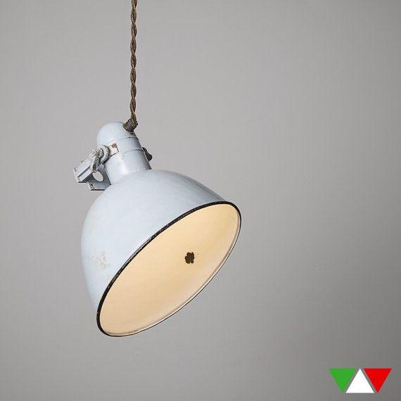 Lampada vintage originale 25% di HMitaliandesign su Etsy