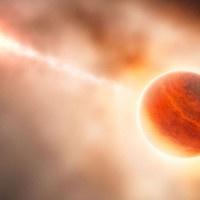 Astrónomos retratan por primera vez el nacimiento de un exoplaneta 2. El Observatorio Europeo del Sur ha retratado por primera vez en la historia lo que sería el nacimiento de un nuevo planeta extra solar. Desprendido de la estrella HD 100546 el nuevo astro se encuentra a más de 335 años luz de la tierra.